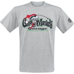 T-shirty męskie z nadrukiem: Gas Monkey Garage Santa Logo T-Shirt odcienie szarego