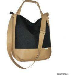 Shopper bag damskie: 5690, ankate, duża czarna torba, czarny worek