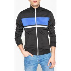Bluza zapinana na zamek, stójka, pas innego koloru. Szare bluzy męskie rozpinane marki La Redoute Collections, m, z bawełny, z kapturem. Za 141,08 zł.