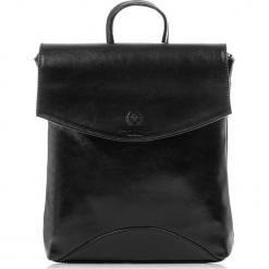 Plecak damski Włoski ze skóry naturalnej Czarny. Czarne plecaki damskie Paolo Peruzzi, ze skóry, vintage. Za 299,00 zł.