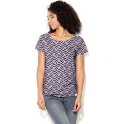 Colour Pleasure Koszulka damska CP-034  240 fioletowo-brzoskwiniowa r. XXXL-XXXXL. Fioletowe bluzki damskie marki Colour pleasure, uniwersalny. Za 70,35 zł.