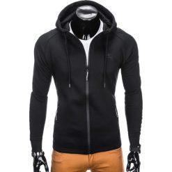 Bluzy męskie: BLUZA MĘSKA ROZPINANA Z KAPTUREM B741 – CZARNA