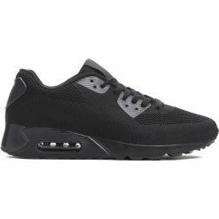 Czarne Buty Sportowe Competitive. Czarne buty skate męskie Born2be, z materiału, na sznurówki. Za 99,99 zł.