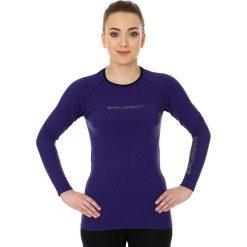 Bluzki sportowe damskie: Brubeck Koszulka damska 3D Run PRO z długim rękawem fioletowa r. XL (LS13140)