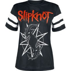 Slipknot Goat Star Logo Koszulka damska czarny/biały. Czarne bluzki z odkrytymi ramionami marki Slipknot, m, z nadrukiem, z kapturem. Za 99,90 zł.