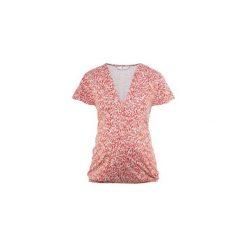 Bellybutton  Bluzka VANIA spiced coral. Różowe bluzki asymetryczne bellybutton, z bawełny, dekolt w kształcie v, z krótkim rękawem. Za 185,00 zł.