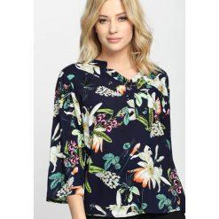 Bluzki asymetryczne: Granatowa Bluzka Coconut Palm