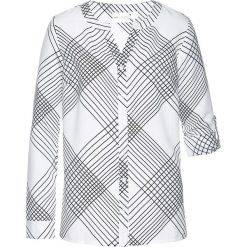 Bluzki damskie: Bluzka w kratę bonprix biało-czarny