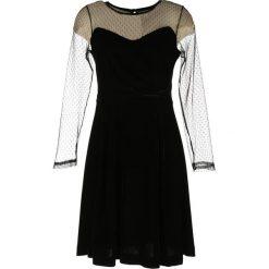 Długie sukienki: Krótka sukienka z długim rękawem, koronka plumetis