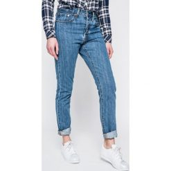 Levi's - Jeansy 501. Brązowe jeansy damskie rurki marki Levi's®, z bawełny. W wyprzedaży za 349,90 zł.