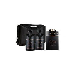 Kosmetyczki męskie: Bvlgari Man In Black Zestaw dla mężczyzn  EDP 100ml + Żel pod prysznic 75ml + Balsam po goleniu 75ml + kosmetyczka