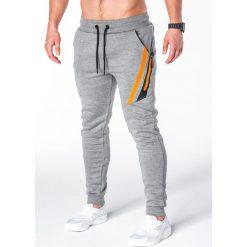 Spodnie męskie: SPODNIE MĘSKIE DRESOWE P660 – SZARE