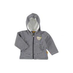 Steiff  Baby Bluza w paski marine - niebieski. Niebieskie bluzy niemowlęce marki Steiff, w paski, z bawełny. Za 176,00 zł.