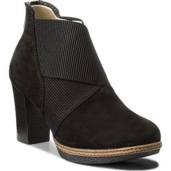 Botki GABOR - 72.872.47 Schw. Czarne buty zimowe damskie Gabor, z materiału, na obcasie. W wyprzedaży za 329,00 zł.