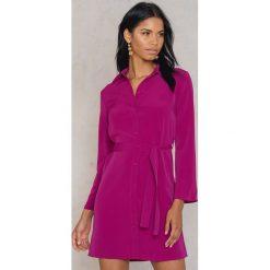 Sukienki hiszpanki: Trendyol Sukienka wiązana z talii – Pink,Purple