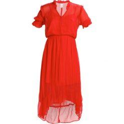 MbyM ROCA Długa sukienka tangerine tango. Czerwone długie sukienki marki mbyM, s, z materiału, z długim rękawem. Za 549,00 zł.