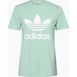 Adidas Originals - T-shirt damski, zielony. Szare t-shirty damskie marki adidas Originals, na co dzień, z nadrukiem, z bawełny, casualowe, z okrągłym kołnierzem, proste. Za 129,95 zł.