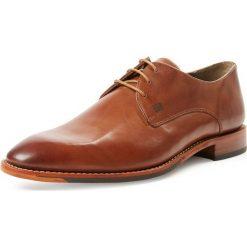Buty wizytowe męskie: Gordon & Bros. - Męskie buty sznurowane ze skóry – Mirco, beżowy