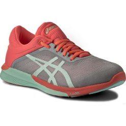 Buty ASICS - FuzeX Rush T768N Midgrey/Bay/Flash Coral 9690. Szare buty do biegania damskie Asics, z materiału, asics fuzex. W wyprzedaży za 329,00 zł.