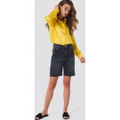 NA-KD Satynowa koszula z długim rękawem - Yellow. Żółte koszule damskie NA-KD, z satyny, z długim rękawem. Za 133,95 zł.