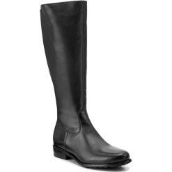 Oficerki WOJAS - 7727-51 Czarny. Czarne buty zimowe damskie Wojas, z materiału, przed kolano, na wysokim obcasie. W wyprzedaży za 459,00 zł.