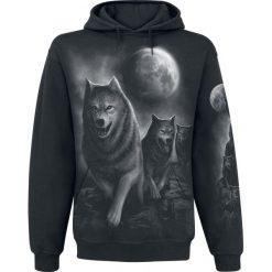 Bluzy męskie: Spiral Wolf Pack Wrap Bluza z kapturem czarny