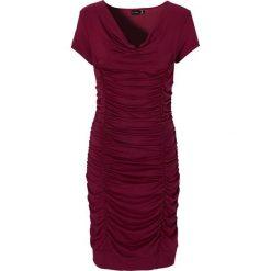 Sukienki: Sukienka z drapowaniem bonprix bordowy