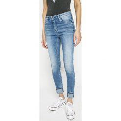 Pepe Jeans - Jeansy Regent. Niebieskie jeansy damskie rurki Pepe Jeans, z bawełny, z podwyższonym stanem. W wyprzedaży za 269,90 zł.