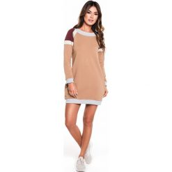 Gym Hero - Sukienka Carmel Dress. Różowe sukienki dzianinowe Gym Hero, na co dzień, l, casualowe, z okrągłym kołnierzem, mini, proste. Za 189,90 zł.
