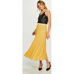 Answear - Spódnica. Szare spódniczki dzianinowe marki ANSWEAR, m, z podwyższonym stanem, midi, plisowane. W wyprzedaży za 99,90 zł.