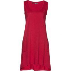 Sukienka bawełniana z przędzy mieszankowej bonprix ciemnoczerwony. Zielone sukienki z falbanami marki bonprix, w kropki, z kopertowym dekoltem, kopertowe. Za 54,99 zł.