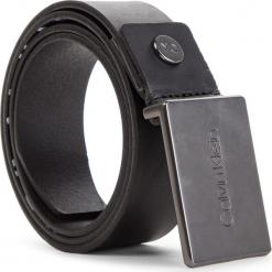 Pasek Męski CALVIN KLEIN - 3.5Cm Adj Plaque Belt K50K504239 85 001. Czarne paski męskie Calvin Klein, w paski, ze skóry. Za 299,00 zł.