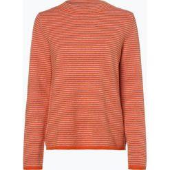Marc O'Polo - Sweter damski z dodatkiem alpaki, pomarańczowy. Brązowe swetry klasyczne damskie marki Marc O'Polo, m, z dzianiny, polo. Za 529,95 zł.
