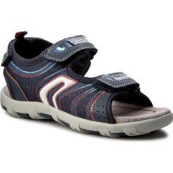 Sandały GEOX - J Sand.Pianeta A  J7264A 011FE C0735 Morski/Czerwony. Niebieskie sandały męskie skórzane marki Geox. W wyprzedaży za 179,00 zł.