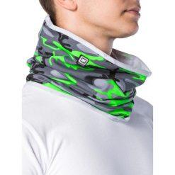 KOMIN MĘSKI A063 - ZIELONY/MORO. Zielone szaliki męskie Ombre Clothing, moro, z bawełny. Za 14,99 zł.