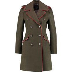 Miss Selfridge MILITARY Płaszcz wełniany /Płaszcz klasyczny dark green. Zielone płaszcze damskie pastelowe Miss Selfridge, z elastanu, klasyczne. W wyprzedaży za 407,20 zł.