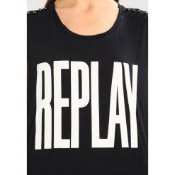 T-shirty męskie z nadrukiem: Replay Tshirt z nadrukiem black