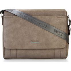 Torba na laptopa 87-4P-509-5. Brązowe torby na laptopa marki Wittchen, w paski. Za 379,00 zł.
