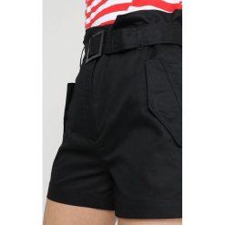 GStar ROVIC HIGH PAPERBAG SHORT Szorty dk black. Czarne szorty damskie paperbag marki G-Star, z bawełny. Za 469,00 zł.