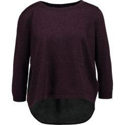 Swetry klasyczne damskie: IKKS Sweter dark purpleblack