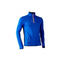 Bluza do piłki nożnej T500. Czerwone bluzy męskie rozpinane marki KALENJI, m, z elastanu, z długim rękawem, długie. Za 59,99 zł.