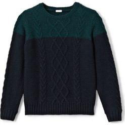 Odzież chłopięca: Dwukolorowy sweter w warkocze 3-12 lat