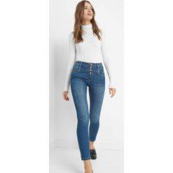 Jeansy skinny z wysokim stanem. Brązowe jeansy damskie skinny marki Orsay, s, z dzianiny. Za 139,99 zł.