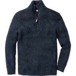 Sweter ze stójką Regular Fit bonprix ciemnoniebieski melanż. Niebieskie golfy męskie marki bonprix, m, melanż. Za 79,99 zł.