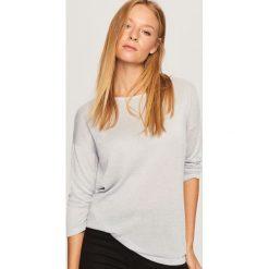 Sweter z wiązaniem z tyłu - Niebieski. Niebieskie swetry klasyczne damskie Reserved, l. Za 59,99 zł.