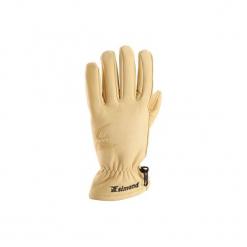 Rękawiczki alpinistyczne skórzane. Brązowe rękawiczki damskie marki SIMOND, z materiału. Za 99,99 zł.