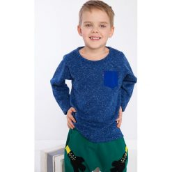 Niebieska bluzka chłopięca z kieszonką DZ9027. Niebieskie t-shirty chłopięce Fasardi. Za 39,00 zł.