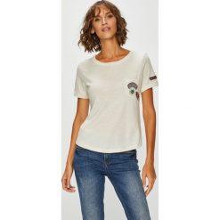 Roxy - Top. Białe topy damskie marki Roxy, l, z nadrukiem, z materiału. Za 149,90 zł.