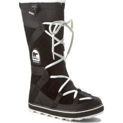 Śniegowce SOREL - Glacy Explorer NL1977 Black 012. Czarne buty zimowe damskie Sorel, z gumy. Za 659,99 zł.