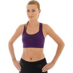 Biustonosze sportowe: Brubeck Biustonosz Crop top Fitness fioletowy r.L (CR10070)